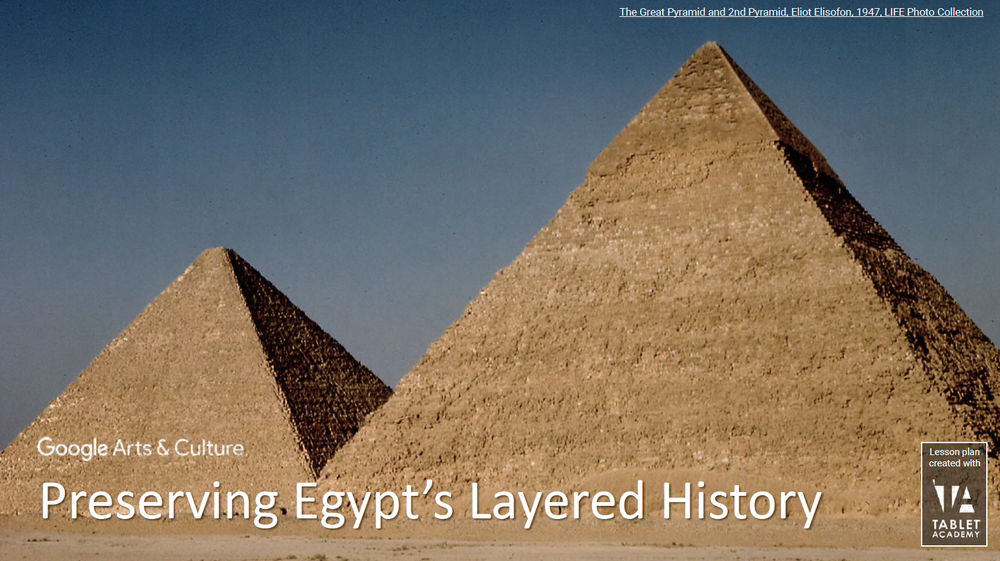 Cover of Uncovering Egypt's Layered History lesson plan