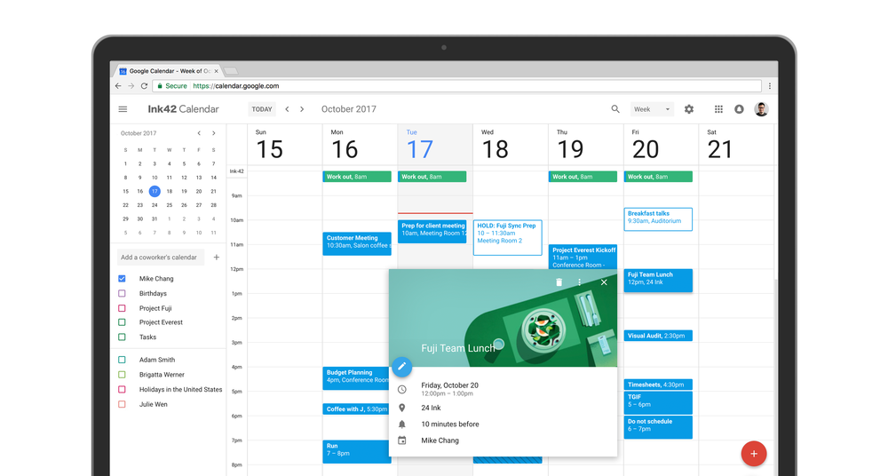 New Calendar UI on web