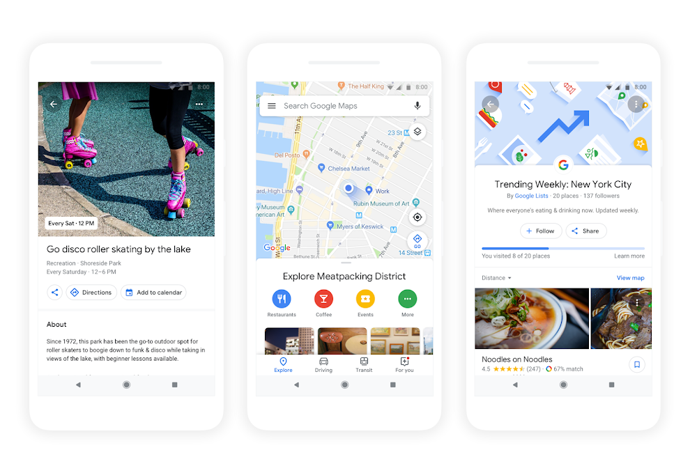 Explore and eat your way around town with Google Maps