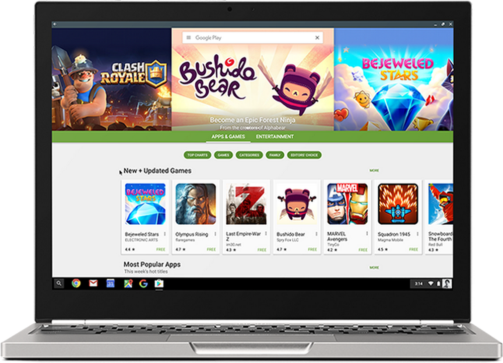 The Google Play store, coming to a Chromebook near you
