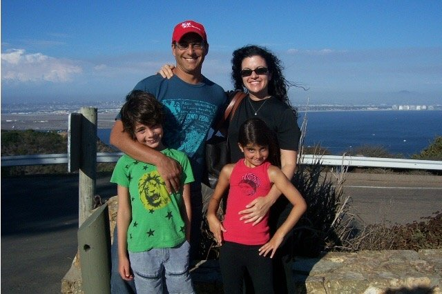 Stacy, Jonathan and their children Cooper and Ava in San Diego in 2006. Jonathan had recently returned from competing with Yul on Survivor: Cook Islands