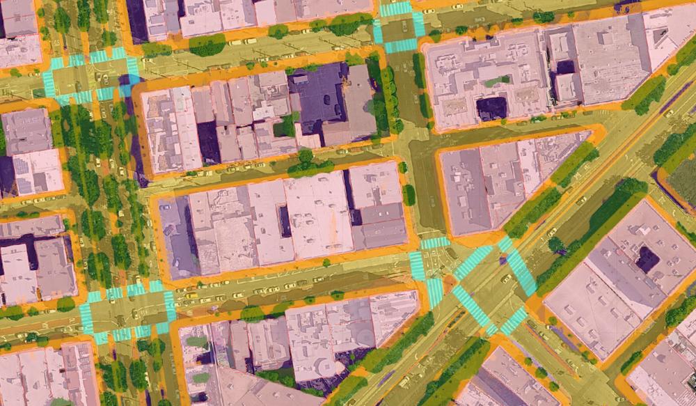 An image of Google Maps' full-scene AI models