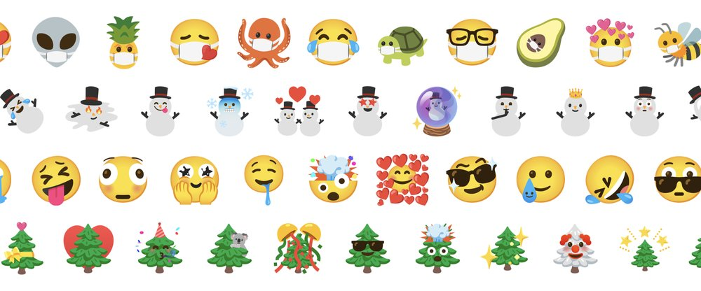 "alt=""A collection of new emoji mixes coming in the latest update of Emoji Kitchen"">"