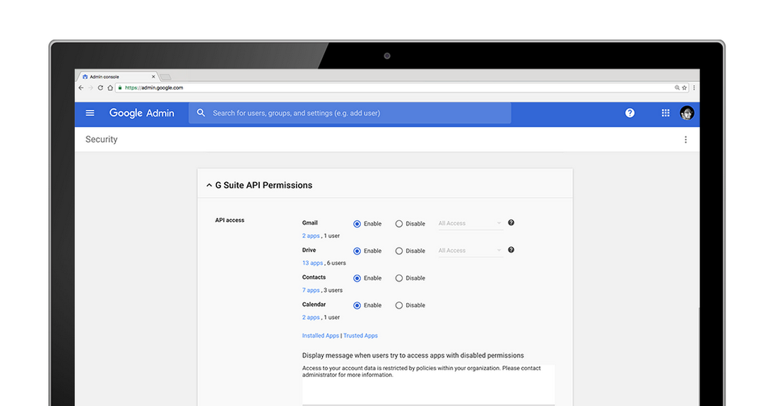 Manage access to third-party apps with new G Suite security