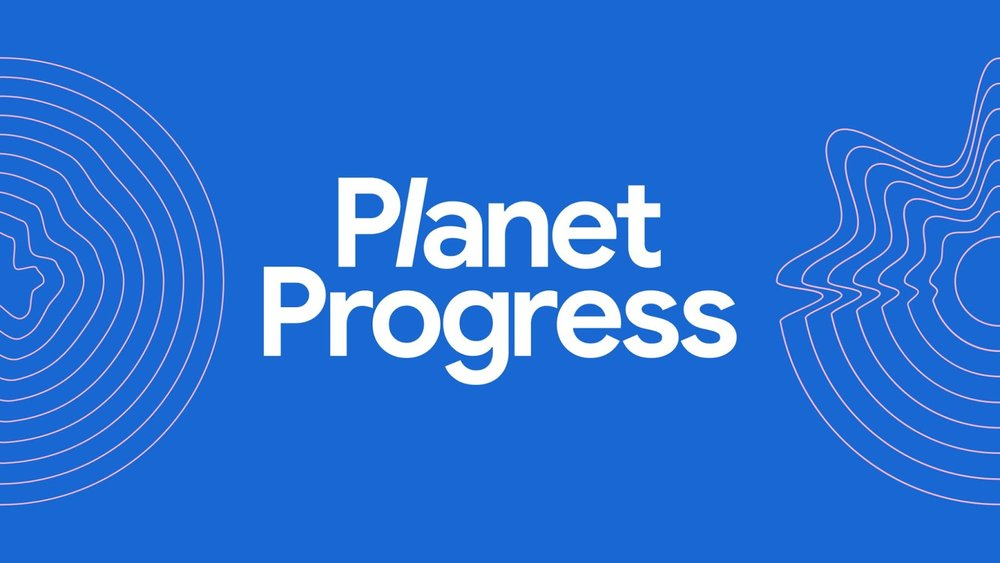 Image that says Planet Progress
