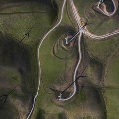 Google wind farm aerial