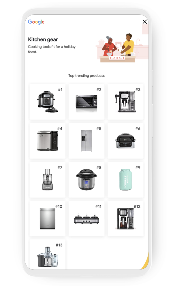 Google Shopping Kitchen Gear category