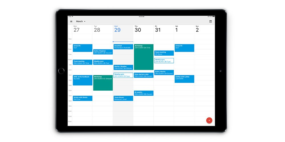 Calendar on iPad still image