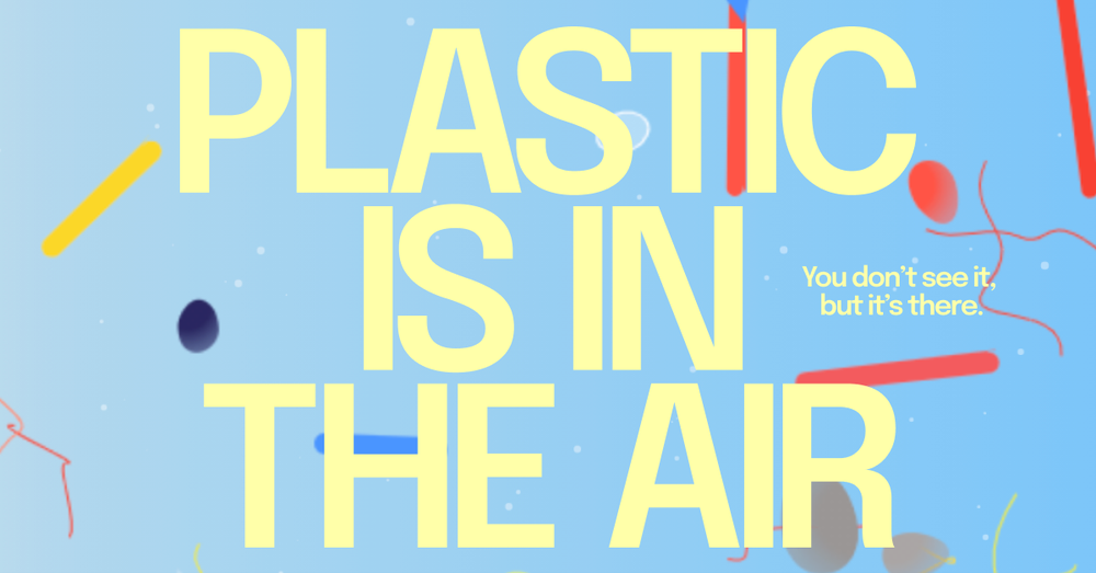 Titelfoto des Experiments Plastic is in the air