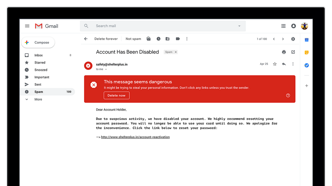 With new security and intelligent features, the new Gmail