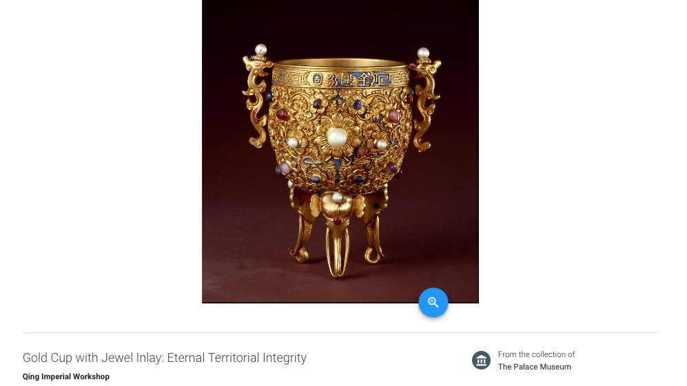 Gold Cup with Jewel Inlay