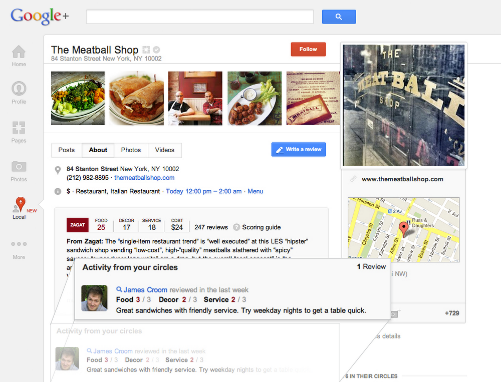 Google+ Local circles