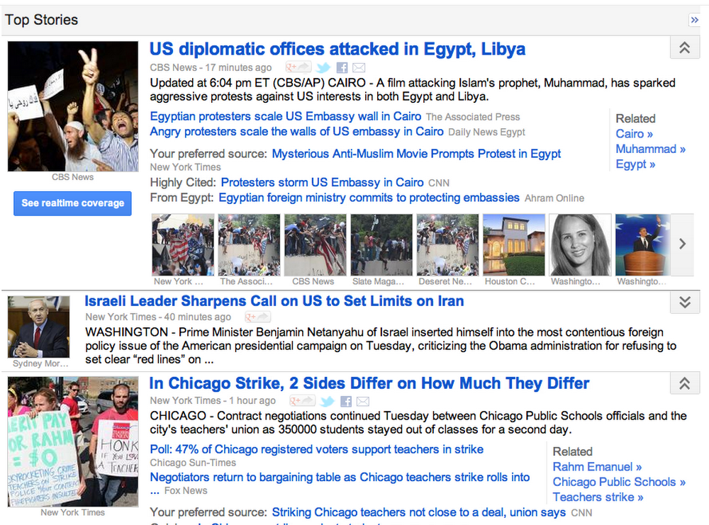 Google News today