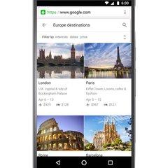 Google Travel on mobile