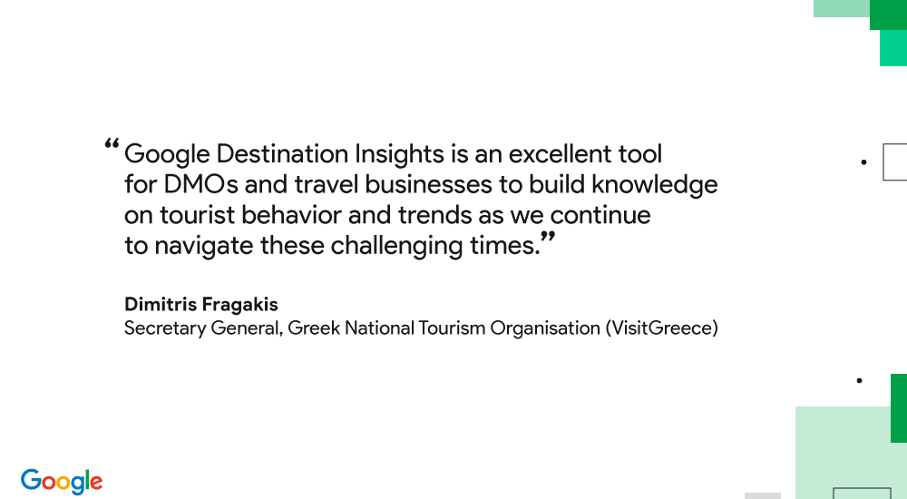 Image showing quote from Dimitris Fragakis, Secretary General of Greek National Tourism Organization