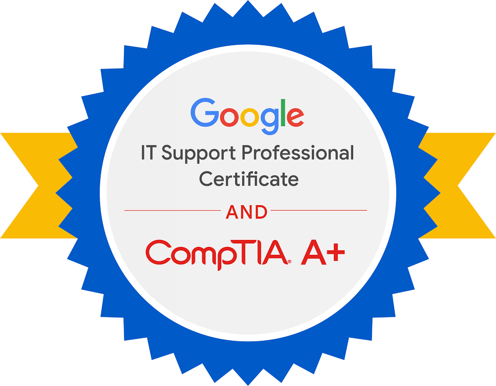 Google and CompTIA badge