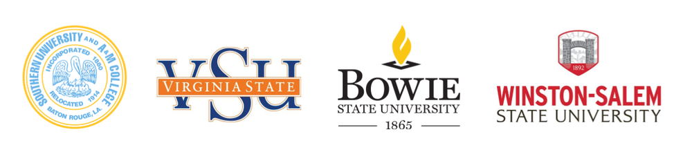 An image showing the logos of HBCUs that are participating in the Grow with Google Career Readiness Program.