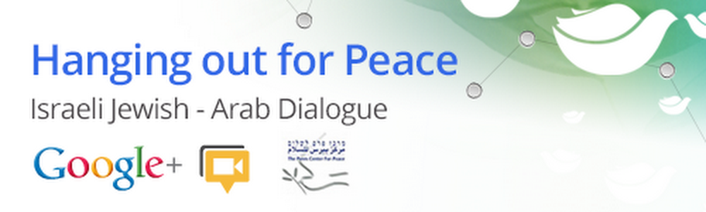 Hanging out for Peace banner