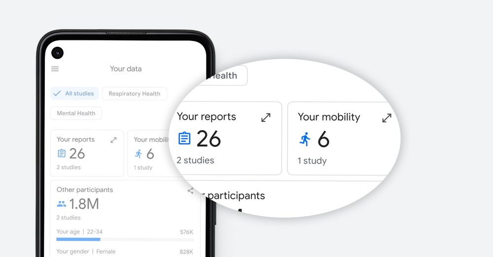 Data that is shown within the Google Health Studies App