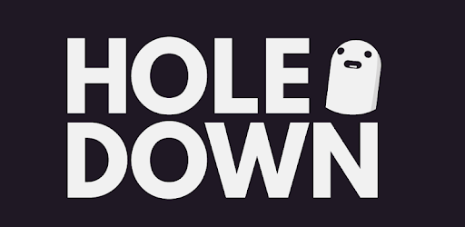 The logo of the video game Hole Down
