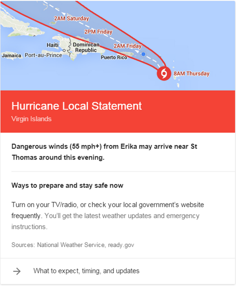 Hurricane local statement