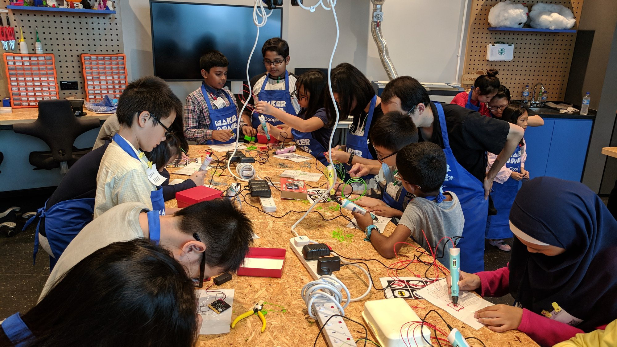 Code in the Community in the Maker Space