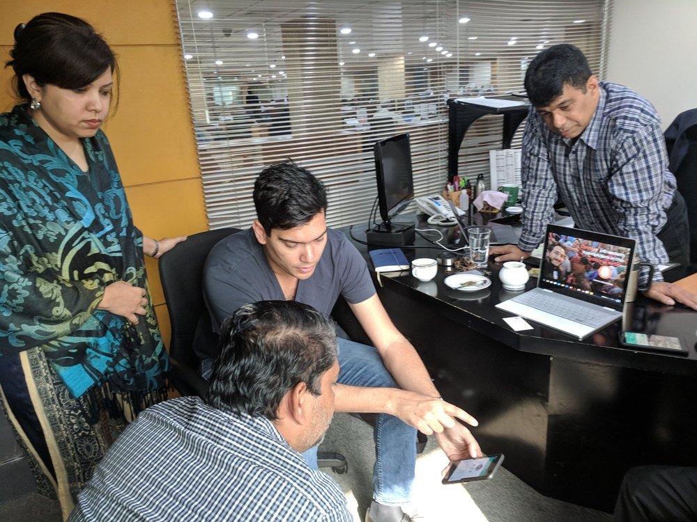 Bickey working with an employer using Kormo.