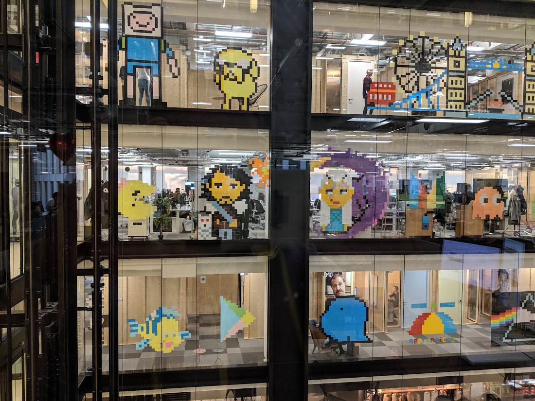 How A Google Office Became A Sticky Note Art Gallery