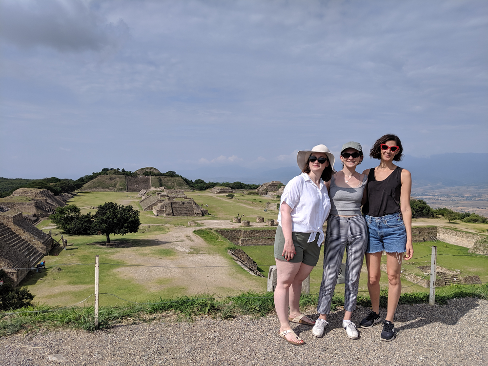 Taking in the beauty of Monte Alban with friends.