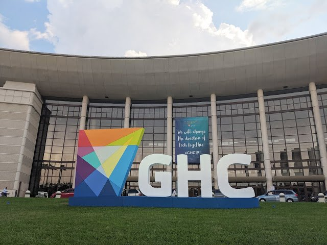 Large sign/sculpture for Grace Hopper conference.