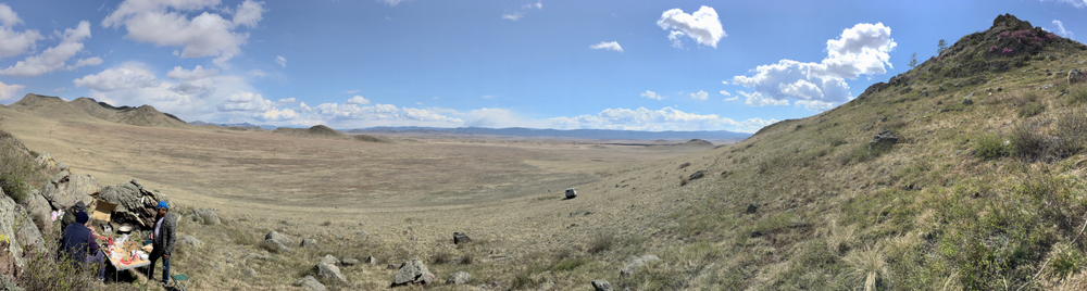 panorama from feynman's rock in tuva
