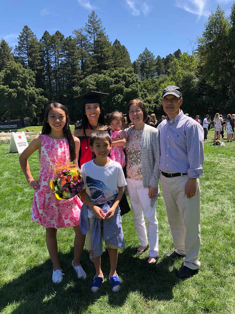 Nancy Yuen with her family