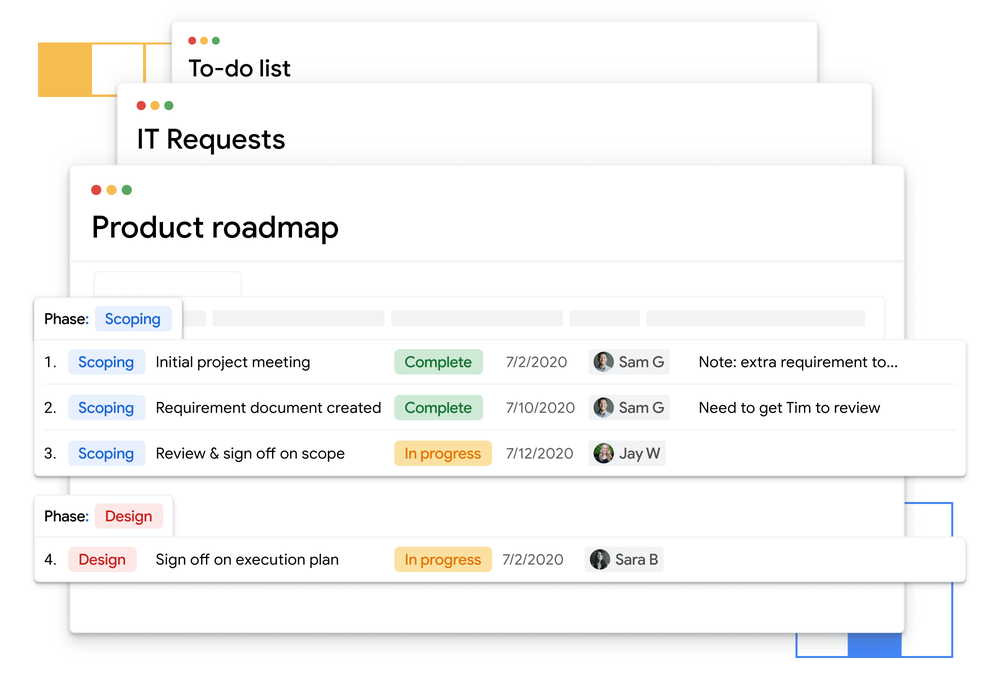 Tables helps teams track work, no matter the task at hand.