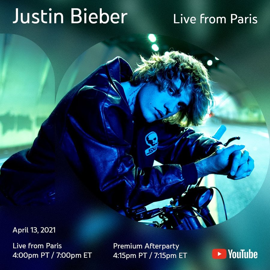 Justin Bieber's 'Live From Paris' concert special is happening tonight, only on YouTube