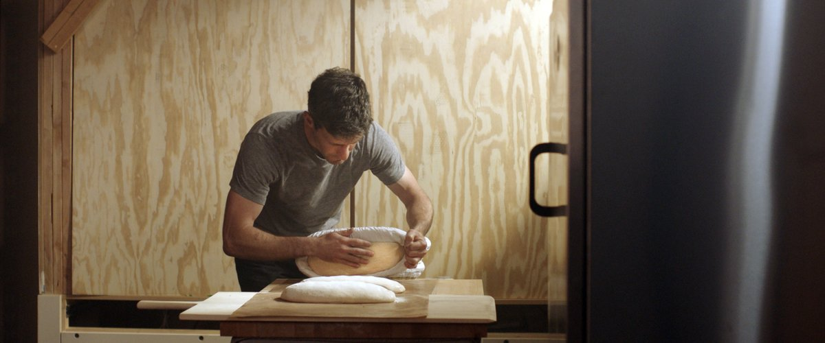 Maurizio making bread