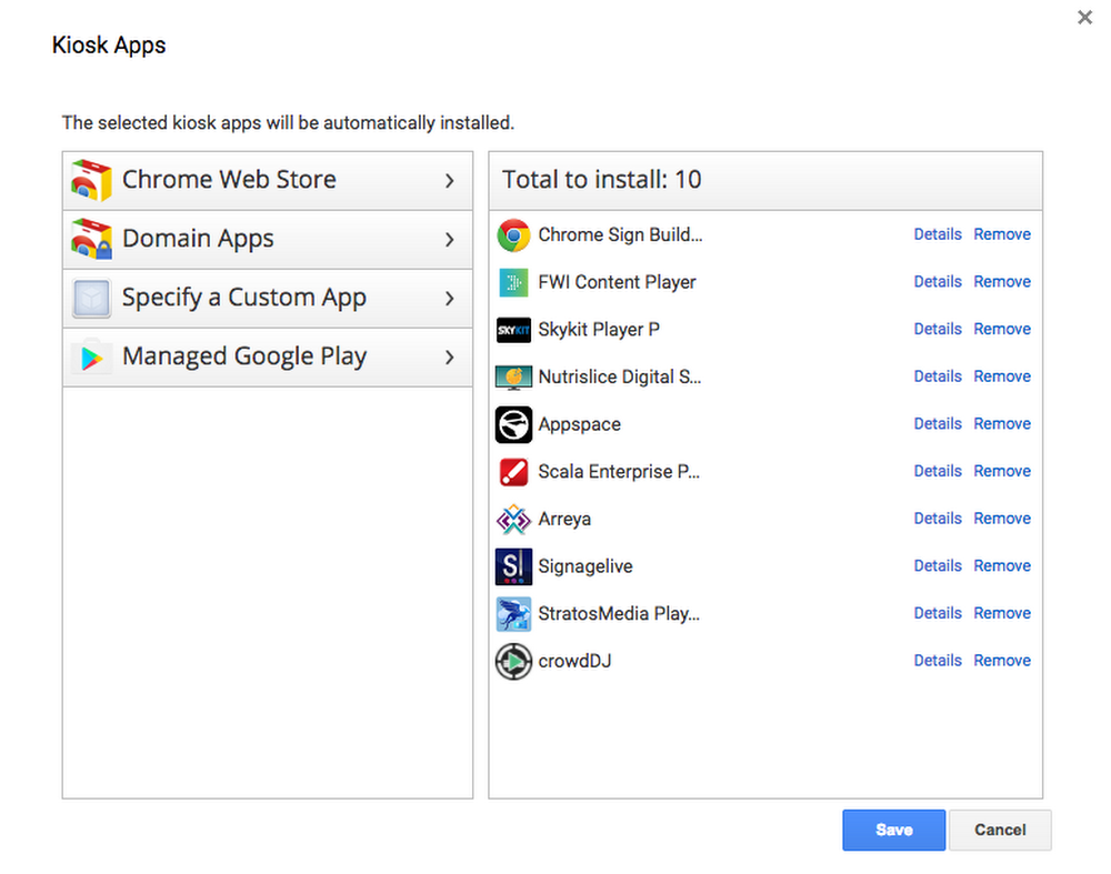 Chrome expands business opportunities with Android Kiosk apps and