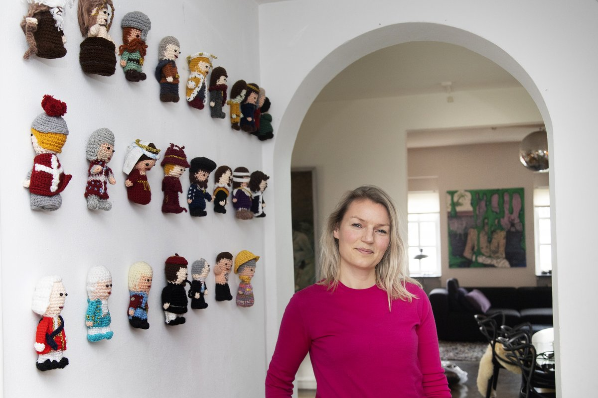 Danish Googler Christine Sørensen is crocheting all the monarchs in Denmark's history