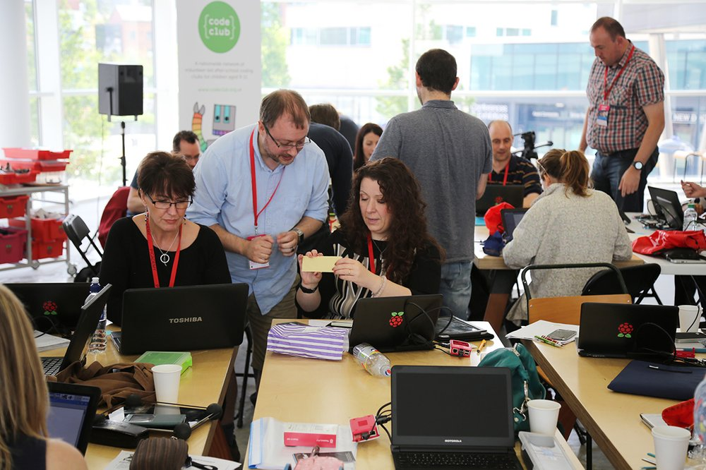 A Raspberry Pi and Google teacher training workshop in Leeds, UK