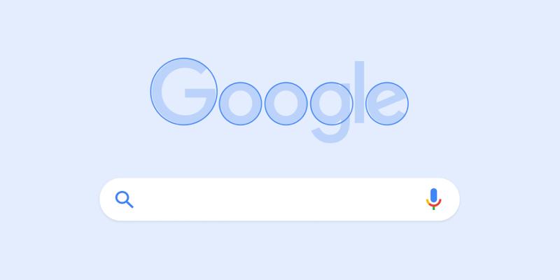 La rotondità del logo di Google