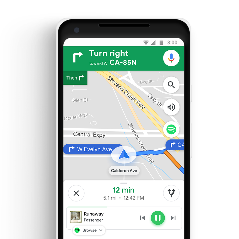 Drive Google Maps on