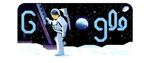 50th anniversary of the moon landing Doodle