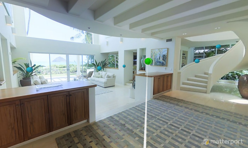 Exploring virtual worlds with WebVR and Matterport