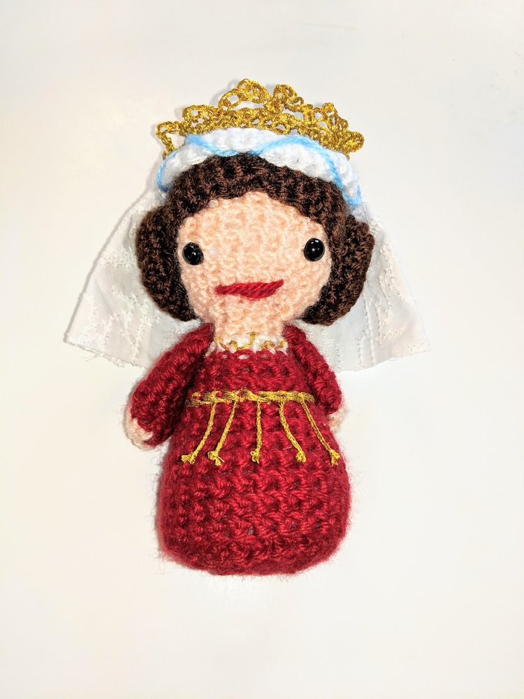 Christine's crocheted Queen Margrethe I
