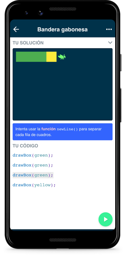 Grasshopper app in Spanish