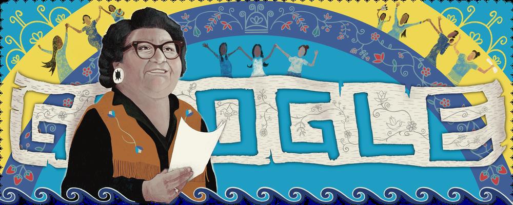 The Mary Two-Axe Earley Google (Canada) Doodle created by Kanien'kehá:ka (Mohawk) artist Star Horn.