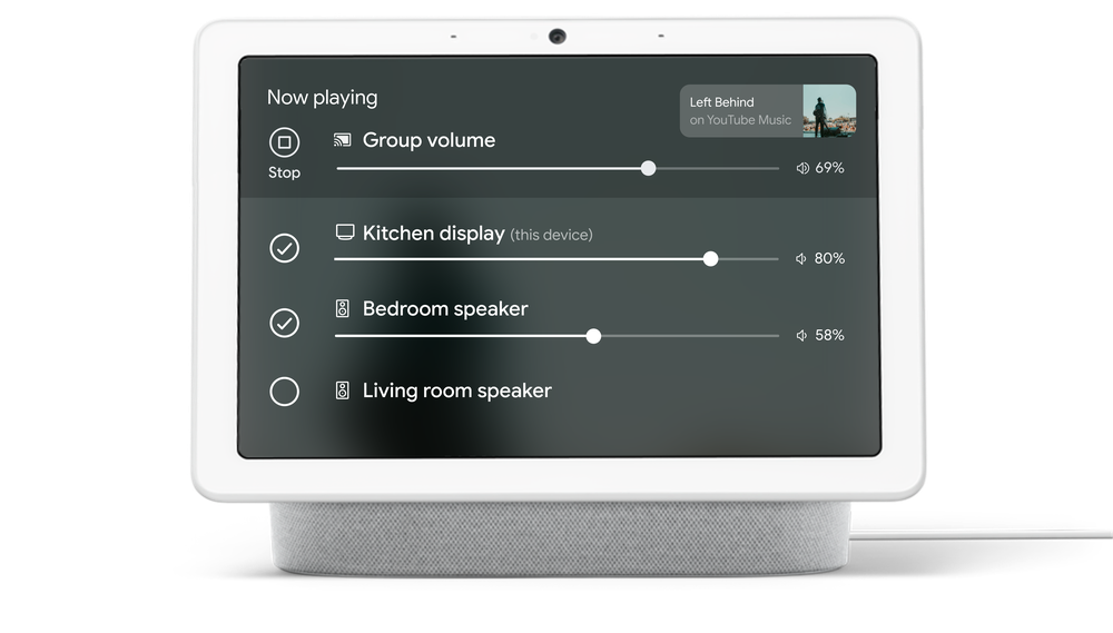 Multi room audio control for Nest screen UI