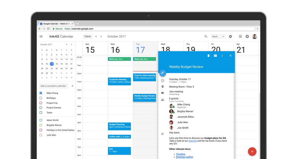 Meetings can be joined directly from Calendar