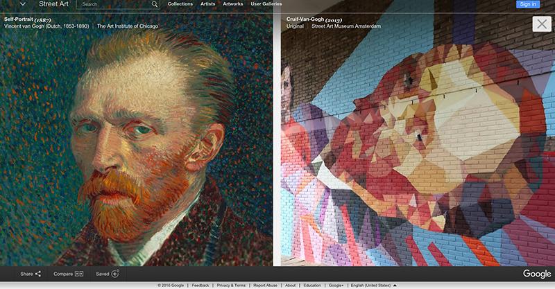 NL- Street Art Museum Amsterdam, 'Gogh van Cruijf' by Uriginal, compared to the original Van Gogh.png