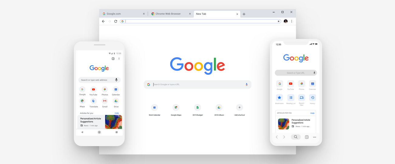 Updating thumbnails google chrome
