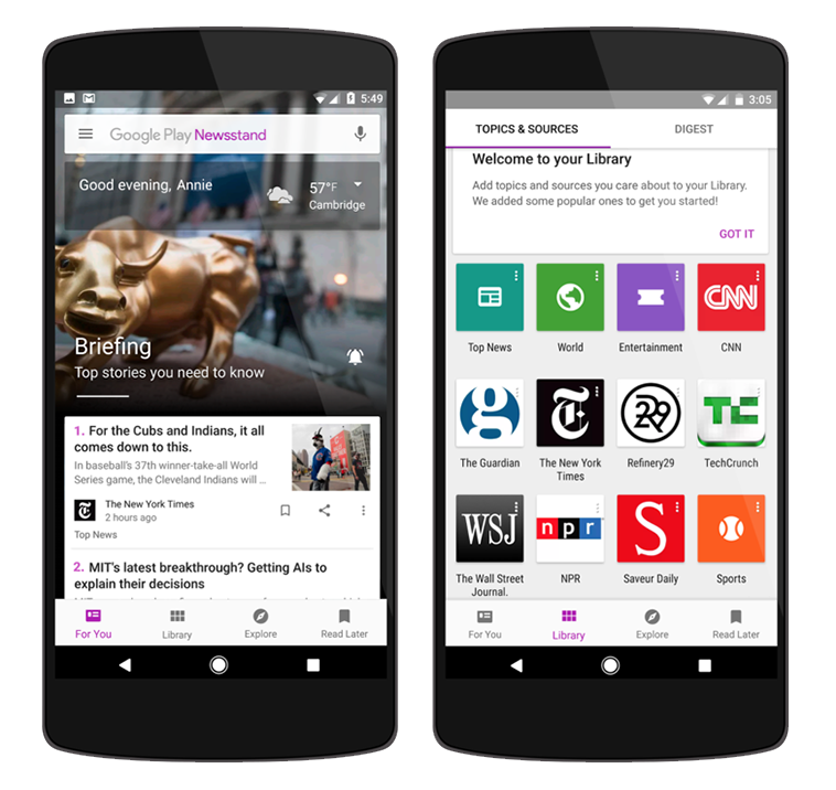 Introducing a smarter and more beautiful Google Play Newsstand